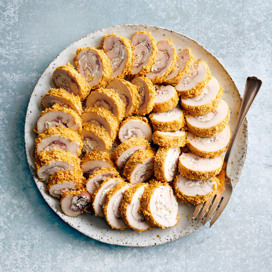 Chicken Cordon-Bleu Roll-Ups