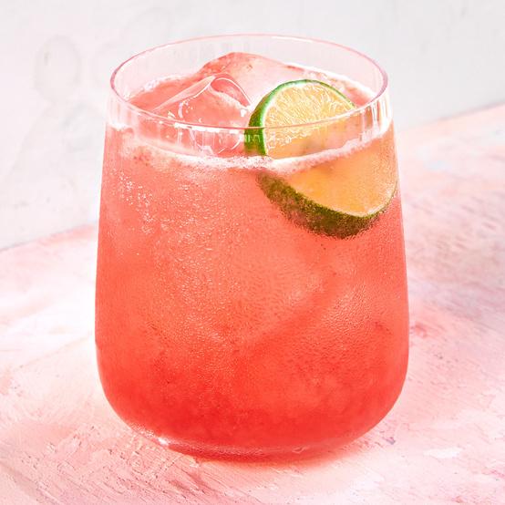 Roasted Rhubarb-and-Cherry Gimlet