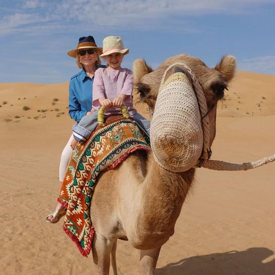 martha travel grandson on camel