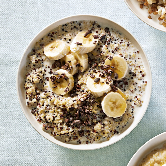 quinoa or millet breakfast bowl