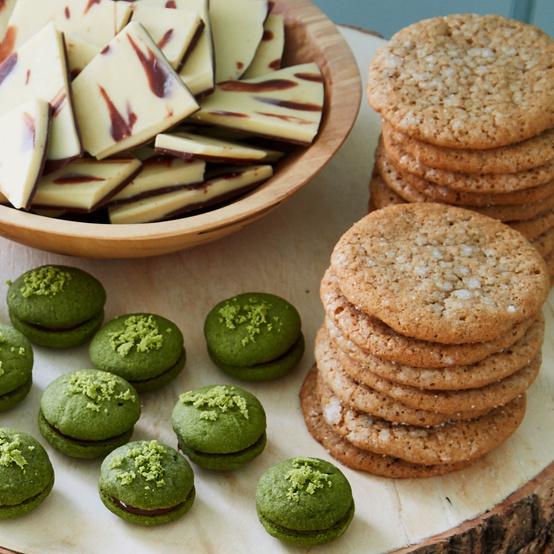 cinnamon sugar cookie stacks