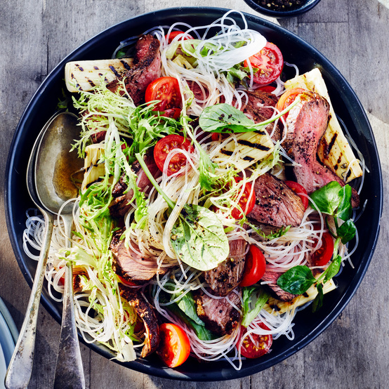 Grilled Skirt Steak and Hearts of Palm Salad