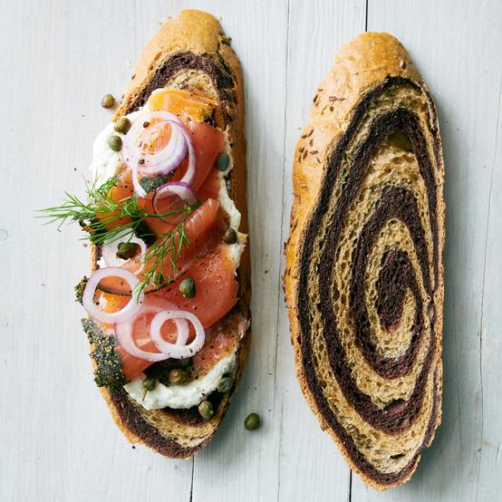 Salmon Tartines with Horseradish-Whipped Cream Cheese