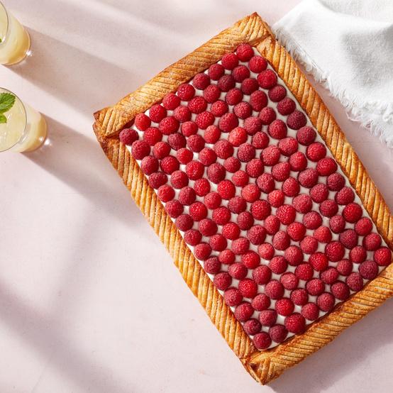 raspberry mascarpone tart martha bakes puff pastry