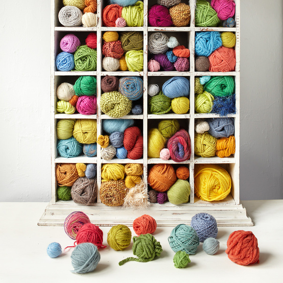 cabinet of yarn