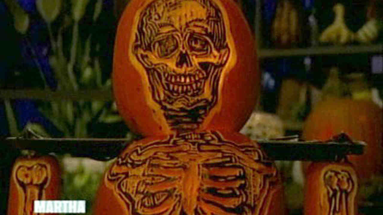 Video: Skeleton Pumpkin | Martha Stewart