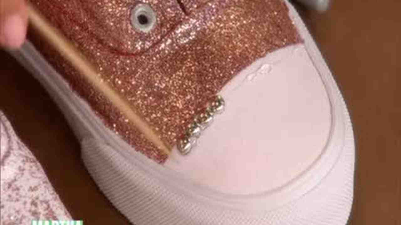 abf54f5b01 Video  Glittered Sneakers