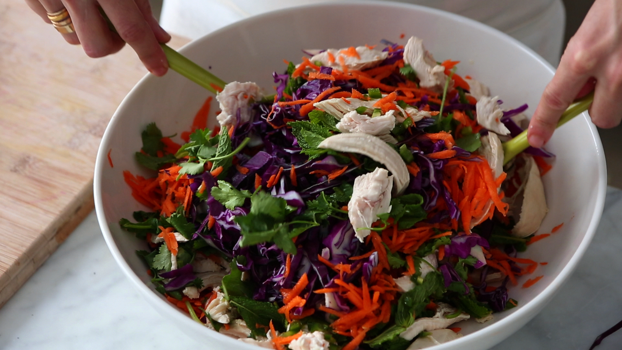 Asian chicken salad video