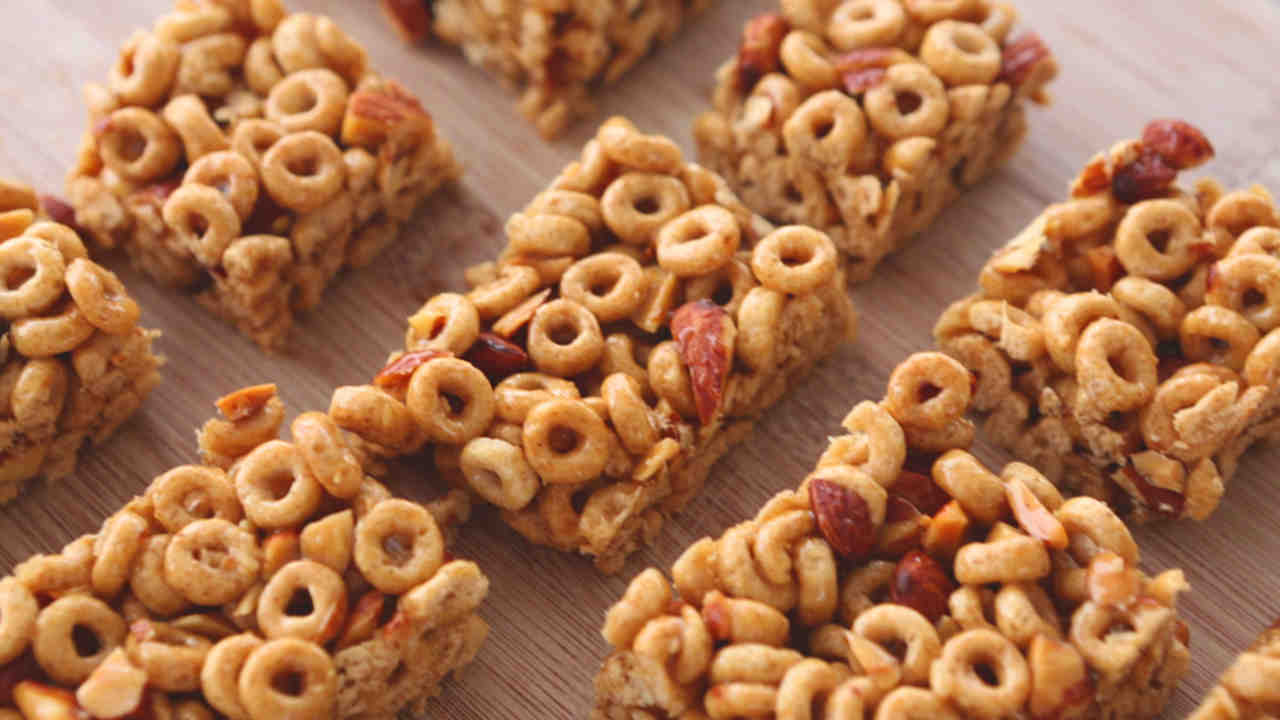 Honey nut cereal bar recipe video martha stewart ccuart Image collections