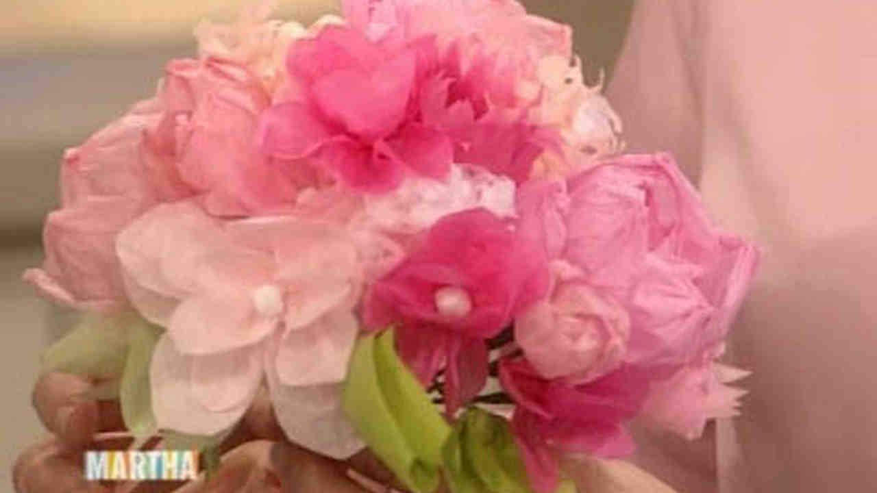 Video Wedding Day Decor Tissue Paper Bouquets Martha Stewart