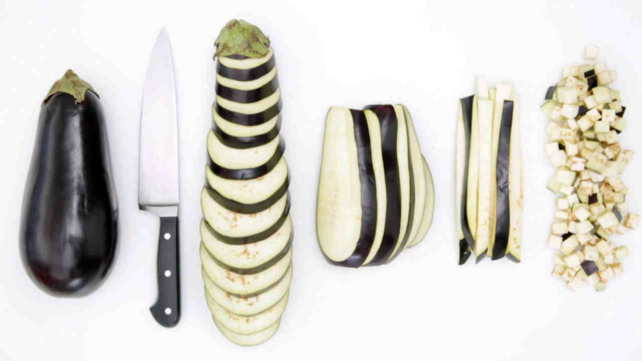 Image result for cutting eggplant