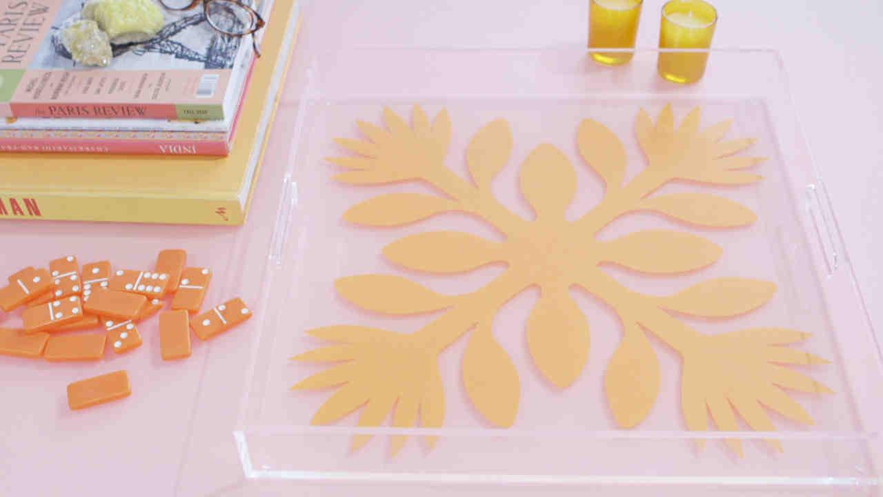 Video: DIY Hawaiian Print Tray | Martha Stewart