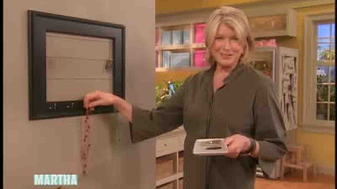 Video: Jewelry Organizer Frame | Martha Stewart