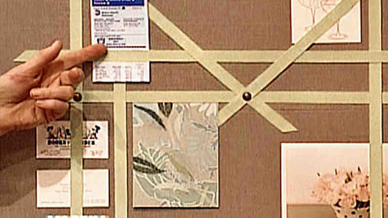 Video Ribbon Bulletin Board Martha Stewart