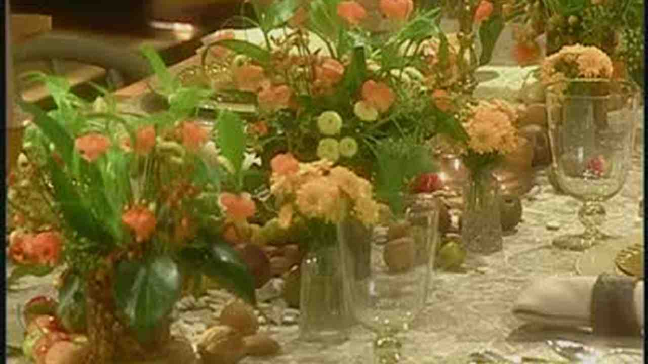 Video Cornucopia Table Setting Martha Stewart