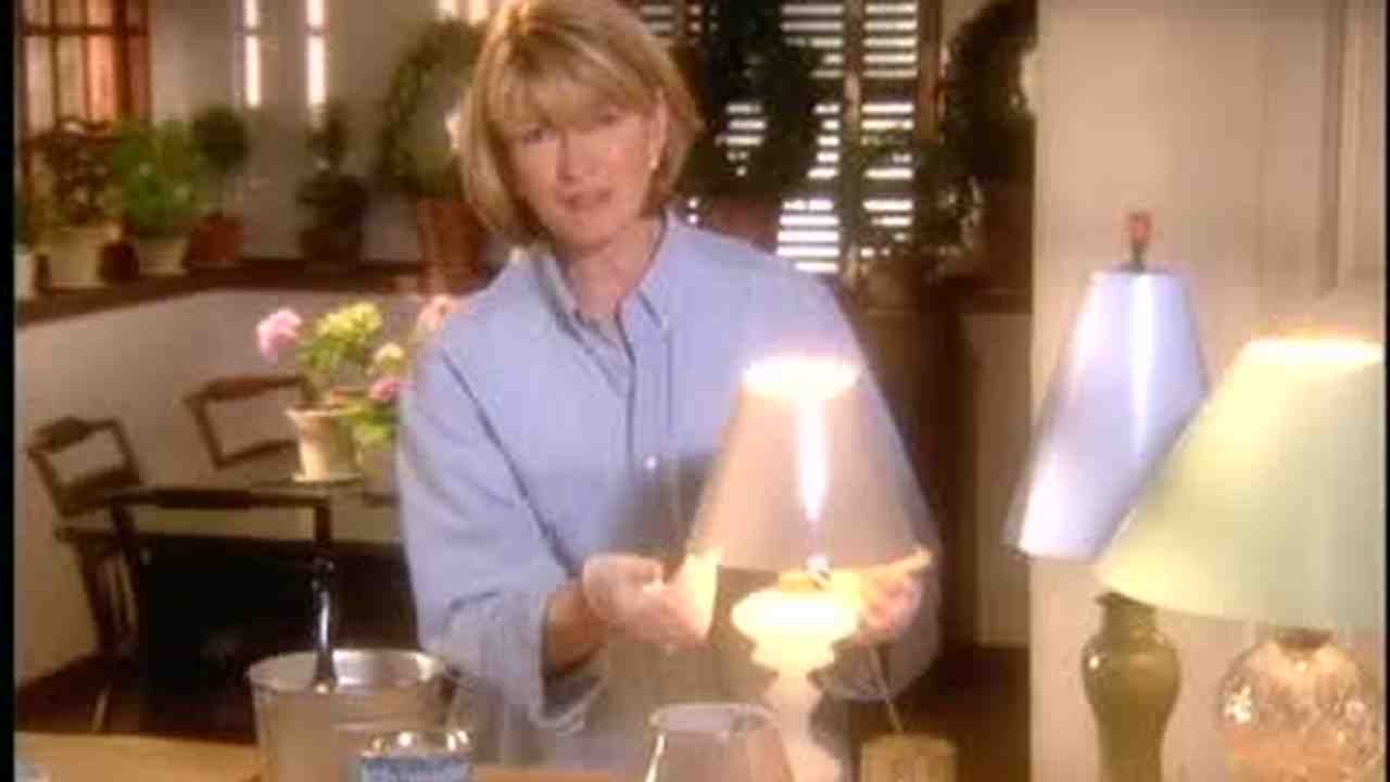 Video how to paint a lampshade martha stewart mozeypictures Choice Image