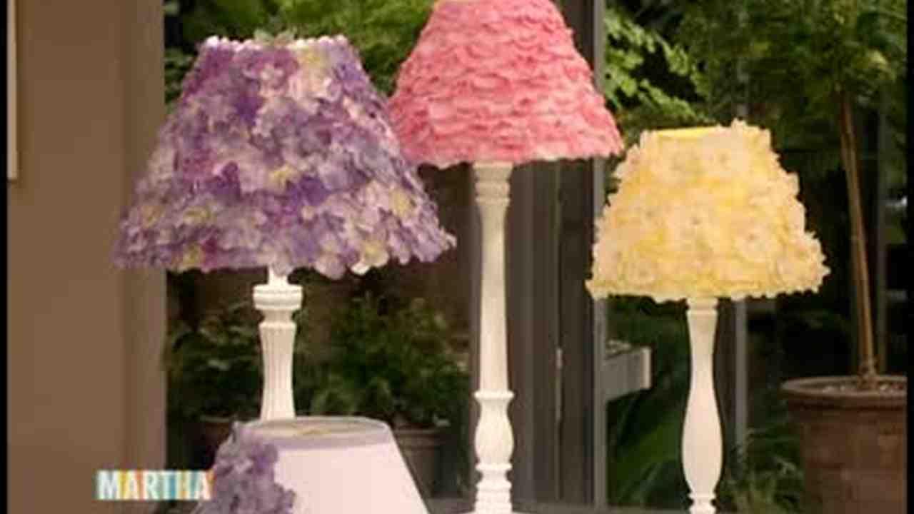 Video flowered lamp shade craft martha stewart aloadofball Image collections
