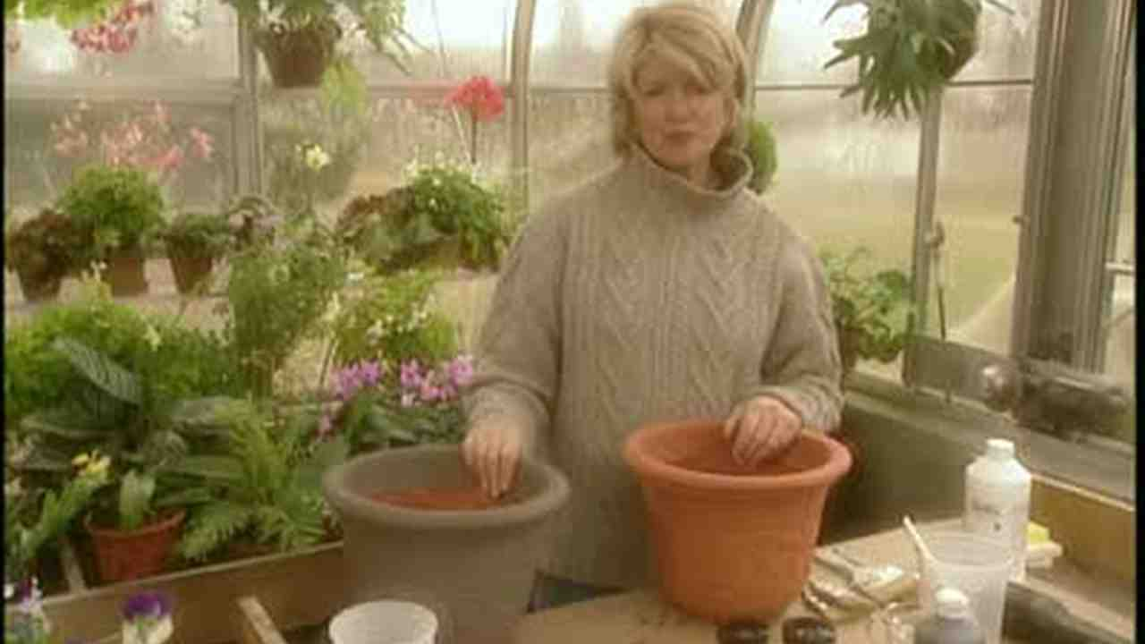 Video Transforming Plastic Pots Martha Stewart