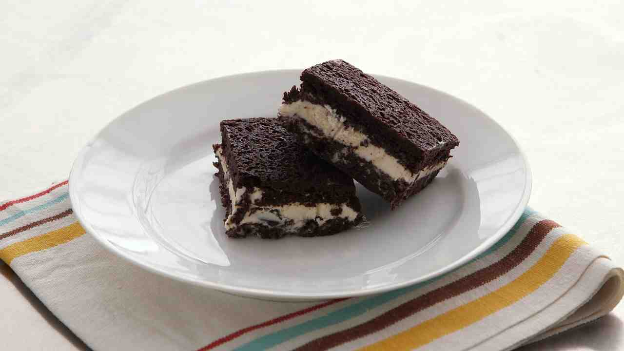 Brownie Ice Cream Sandwich
