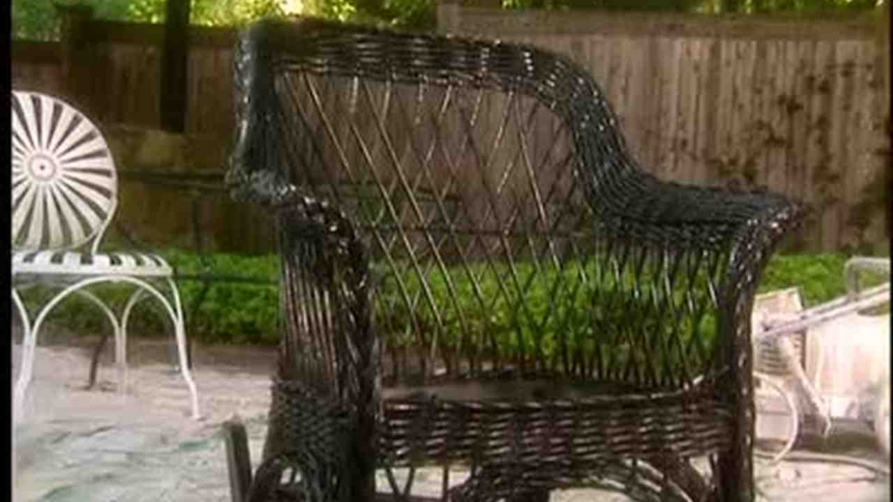 Video Painting Outdoor Furniture Wicker Martha Stewart - Painting outdoor furniture