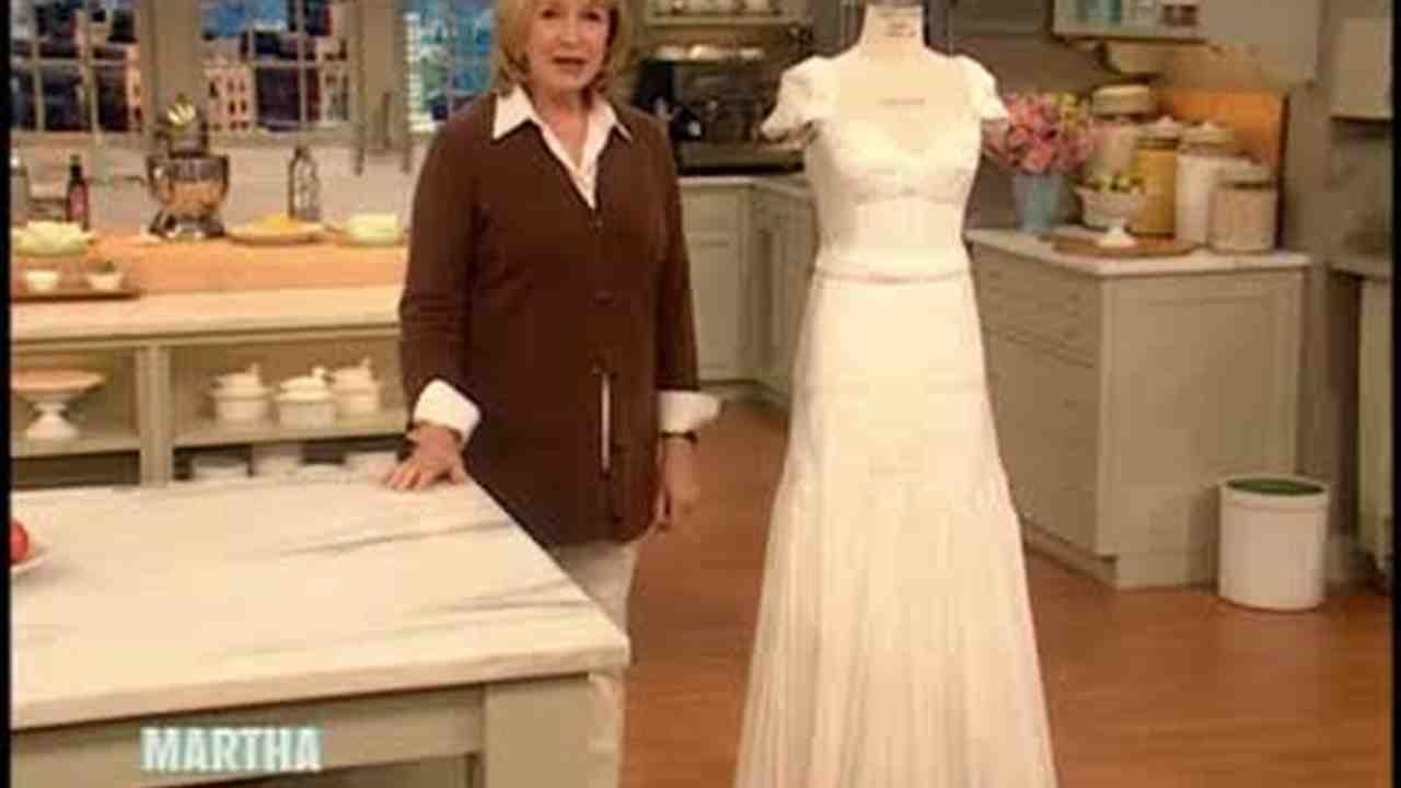 Video Toilet Paper Wedding Dress Martha Stewart