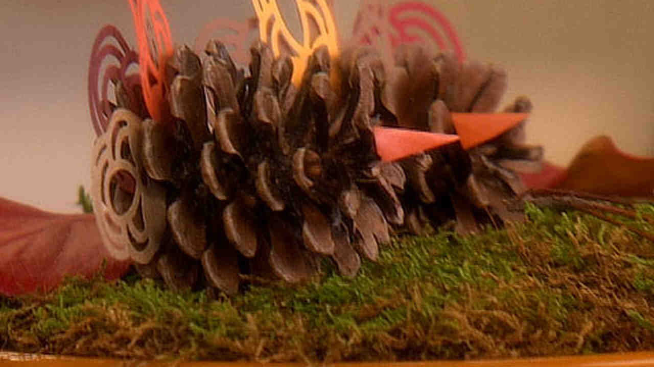 Video: Good Thing: Pinecone Turkey Thanksgiving Decorations | Martha ...