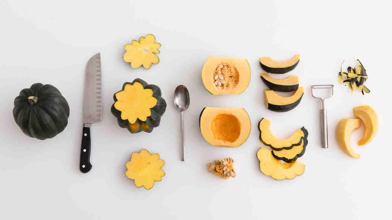 How to Peel an Acorn Squash