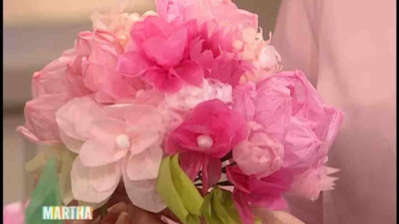 Video Easy Paper Flower Wedding Decorations Martha Stewart