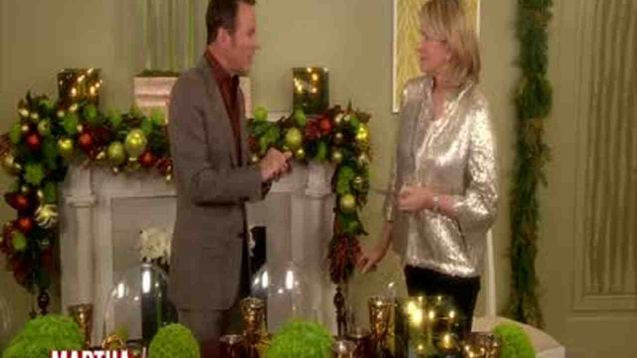 & Video: Colin Cowie Party Decorations | Martha Stewart