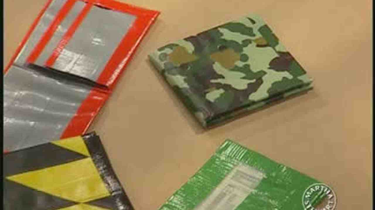 Video How To Make Duct Tape Wallets Martha Stewart