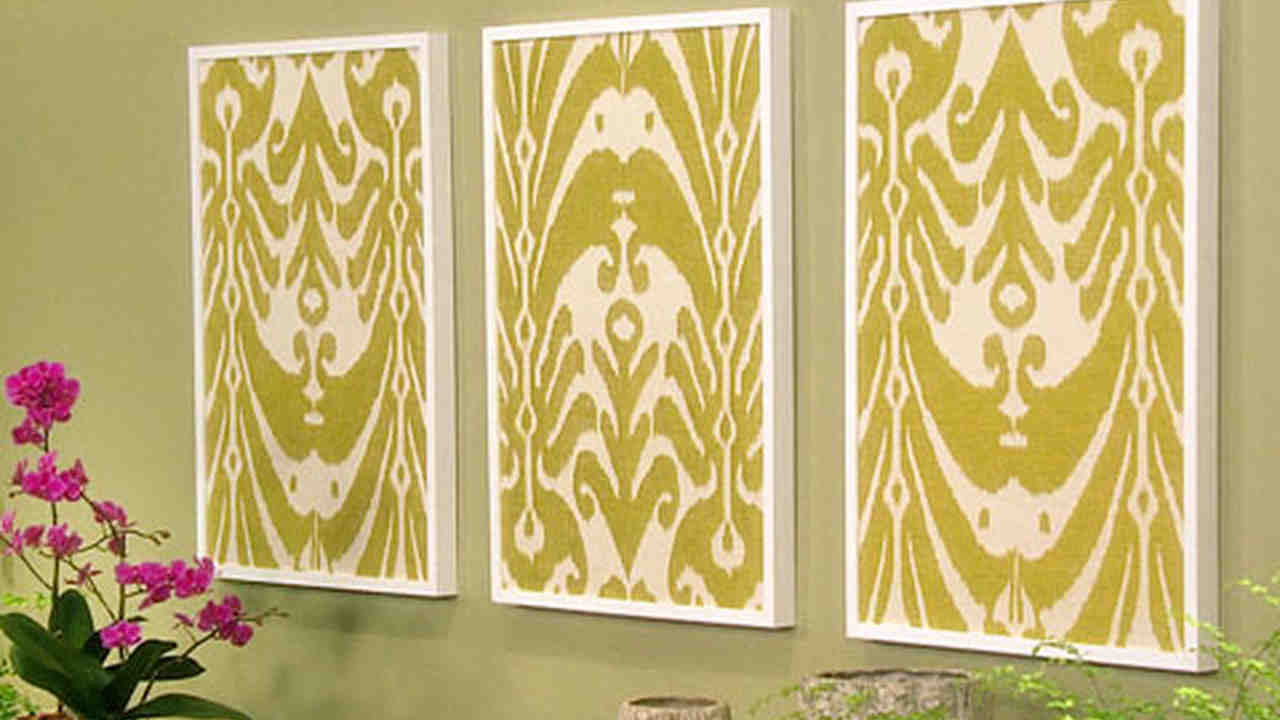 Video: Framed Fabric   Martha Stewart