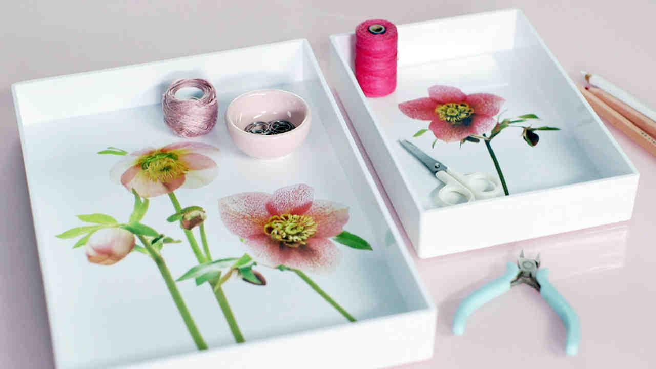 Video Spring Flowers Decoupage Trays Martha Stewart