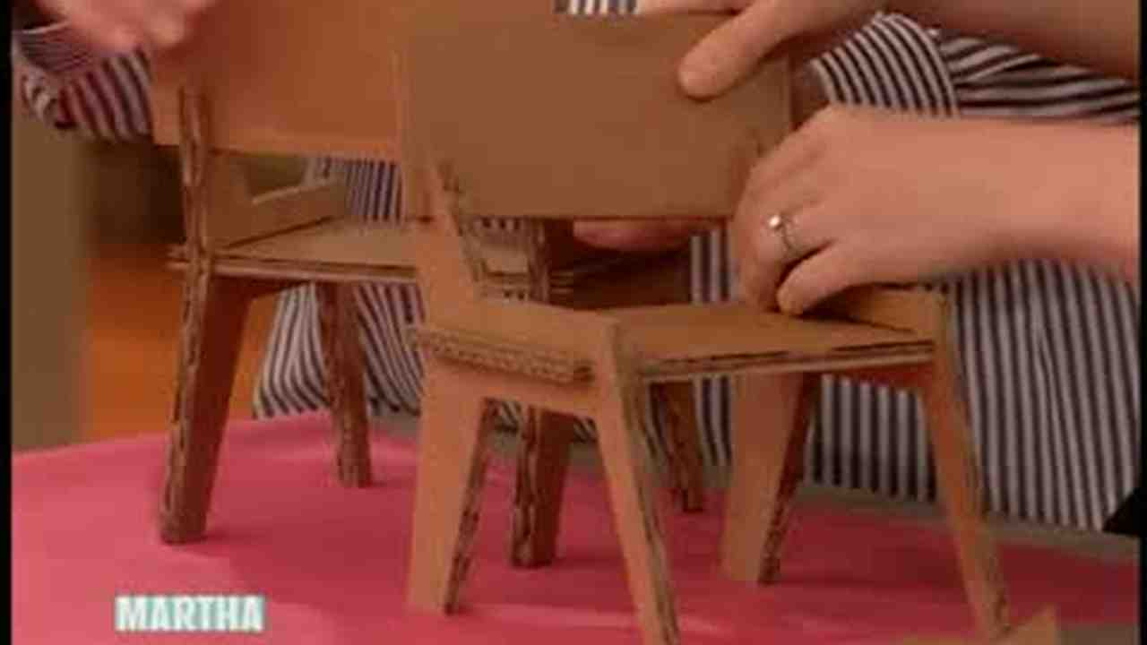 Video Cardboard Doll Table And Chairs
