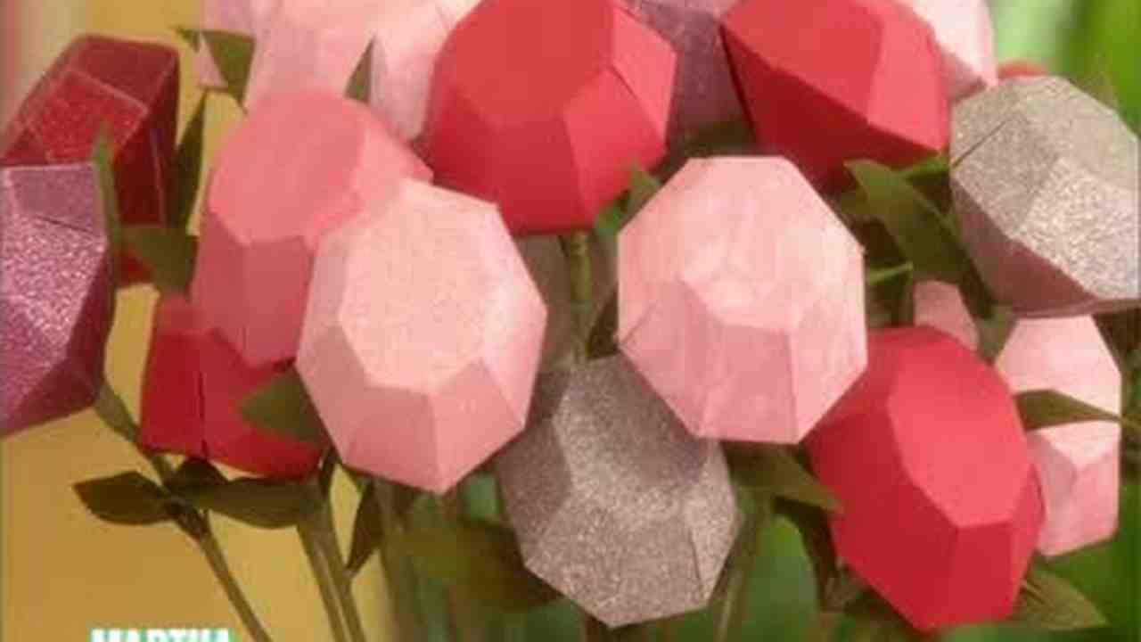 Video How To Make Diamond Shaped Roses Martha Stewart