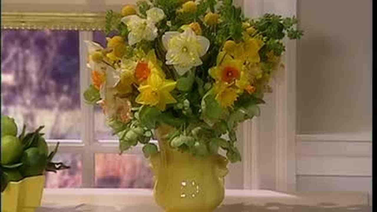 Video Yellow Spring Flower Arrangement Martha Stewart