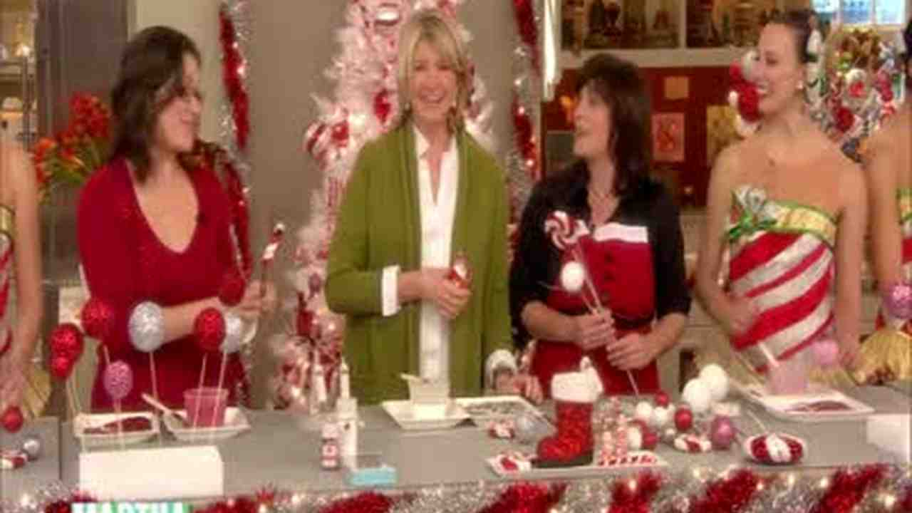 video peppermint christmas tree toppers martha stewart - Peppermint Christmas Decorations