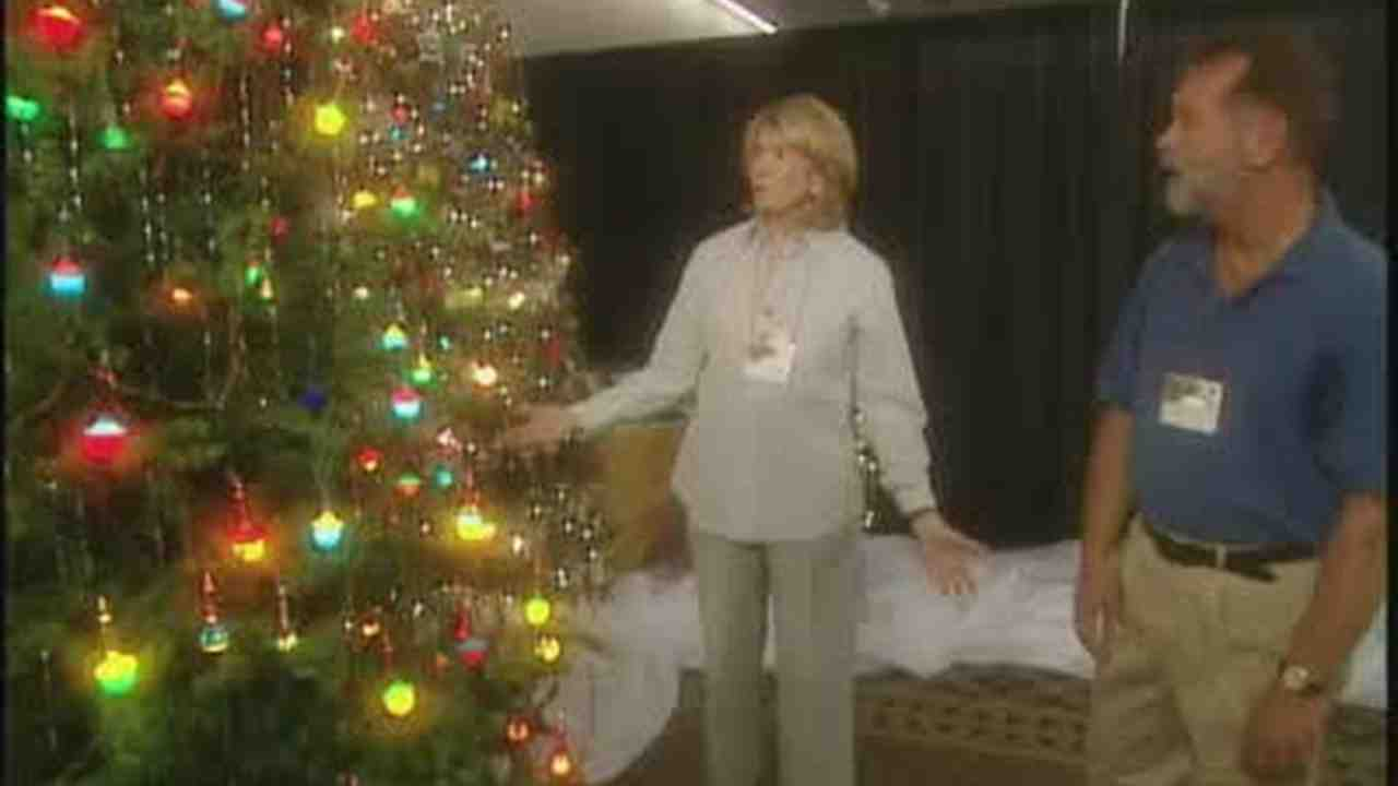 video vintage and antique christmas trees martha stewart - Christmas Tree Decorated With Vintage Ornaments