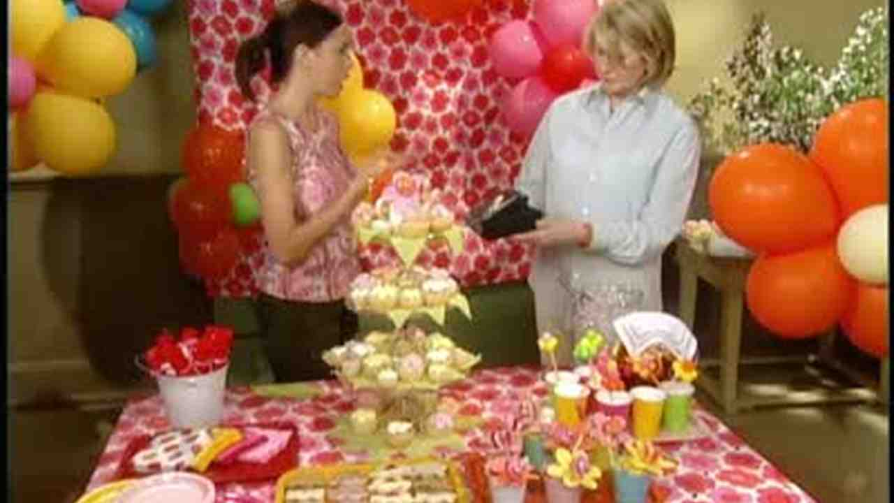 Video Balloon and Flower Party Decorations Martha Stewart
