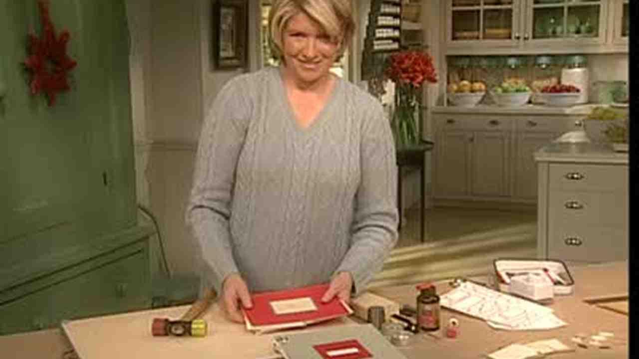 Video Christmas Card Scrapbook Made Simple Martha Stewart