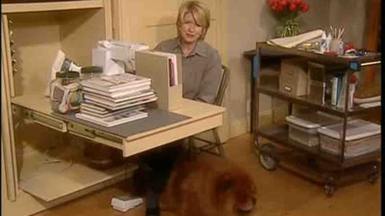Video how to create a sewing room in a closet martha stewart watchthetrailerfo