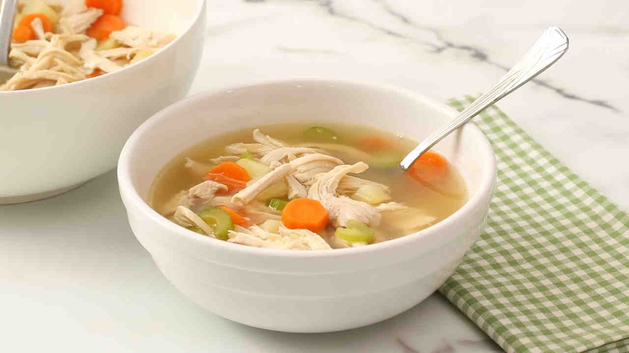 A simple recipe: soup with chicken. Step by Step Cooking 31