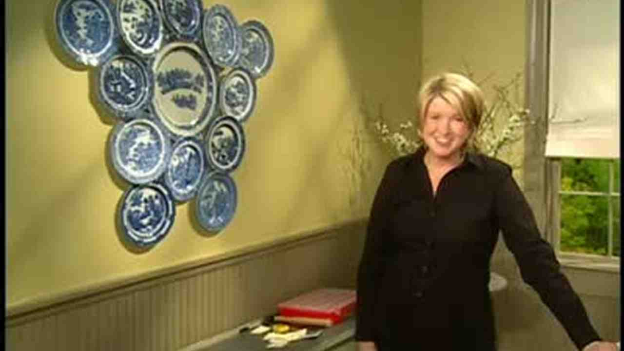 Video: How to Hang Decorative Plates | Martha Stewart