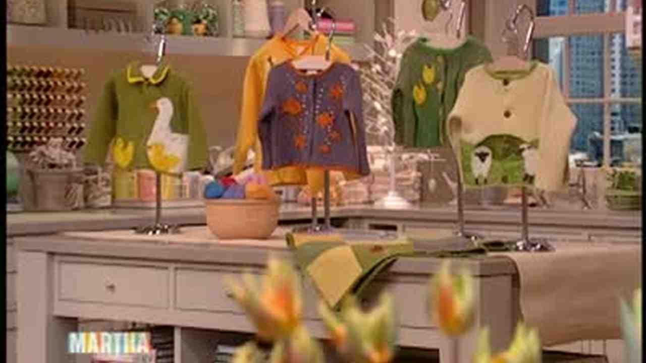 video handmade spring sweaters for children martha stewart