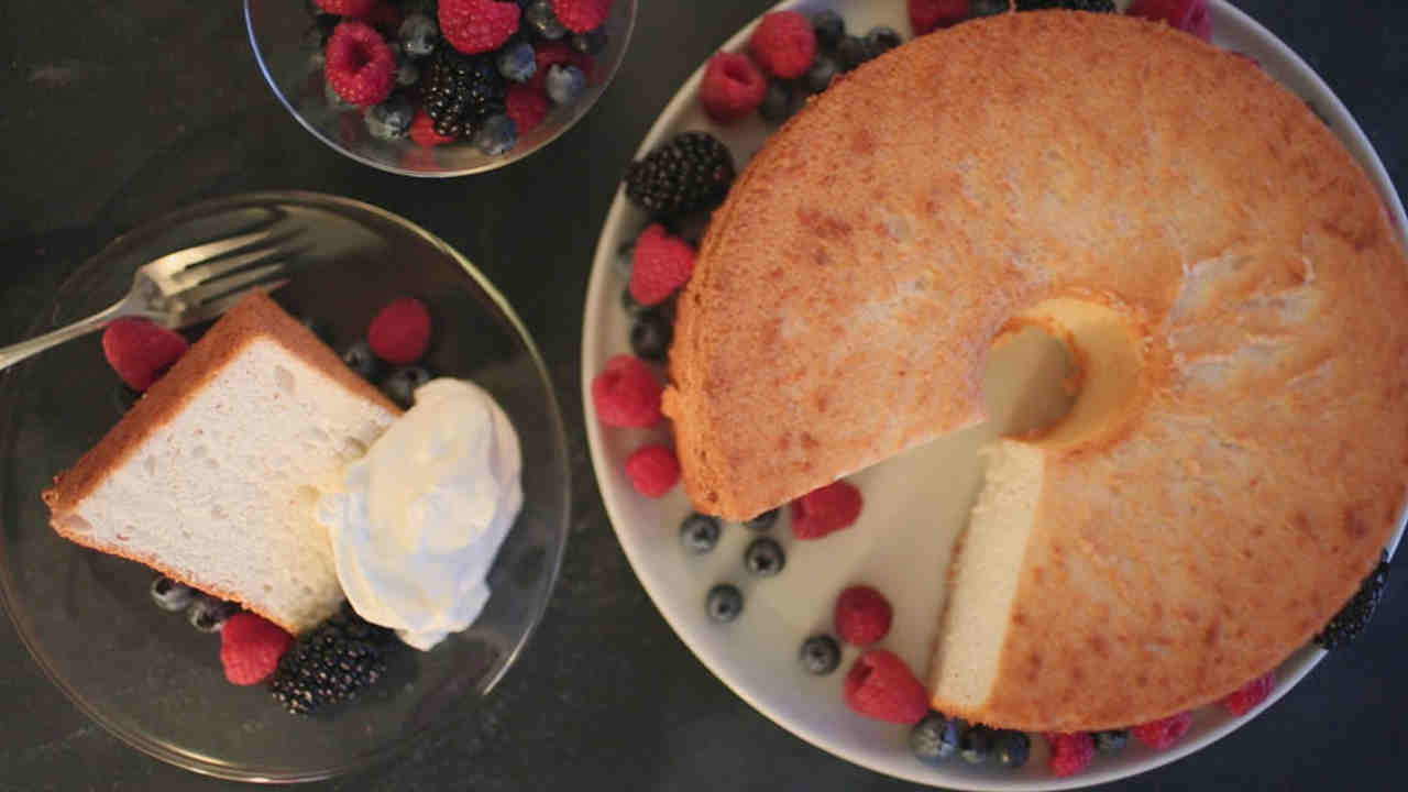 Classic Angel Food Cake Recipe Video Martha Stewart