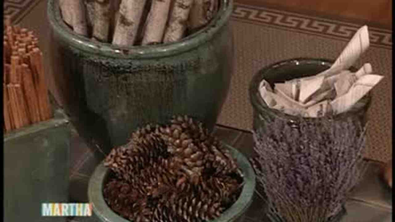 video how to make a pine cone fire starter martha stewart