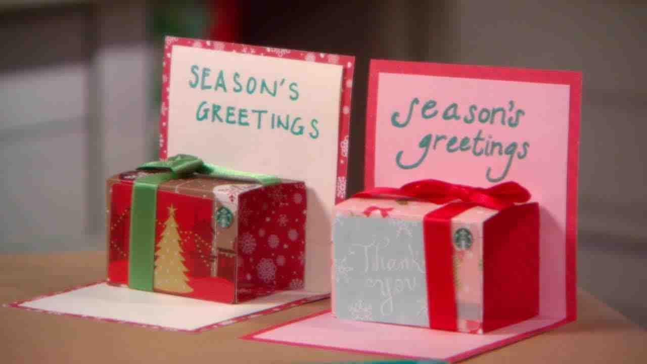 How to make a christmas gift card