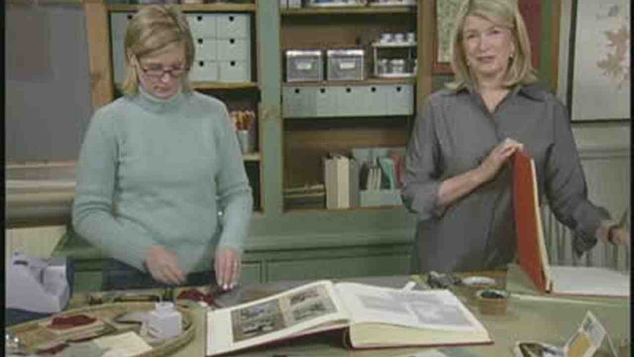 Video: Make Your Own Photo Frames and Scrapbook | Martha Stewart