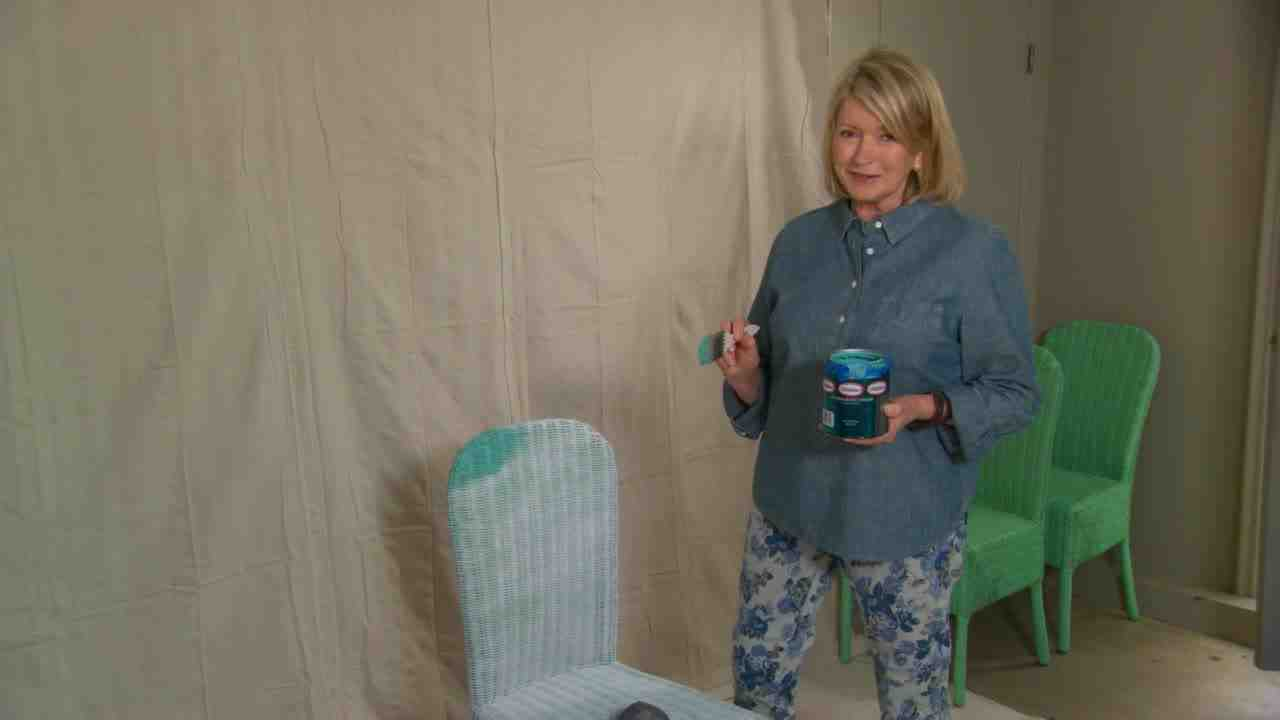 painted wicker furnitureVideo Ask Martha Spray Painting Wicker Chairs  Martha Stewart