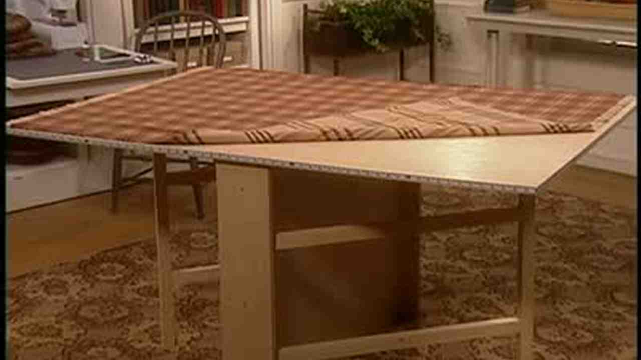 Video how to make a gate leg sewing table part 2 martha stewart watchthetrailerfo