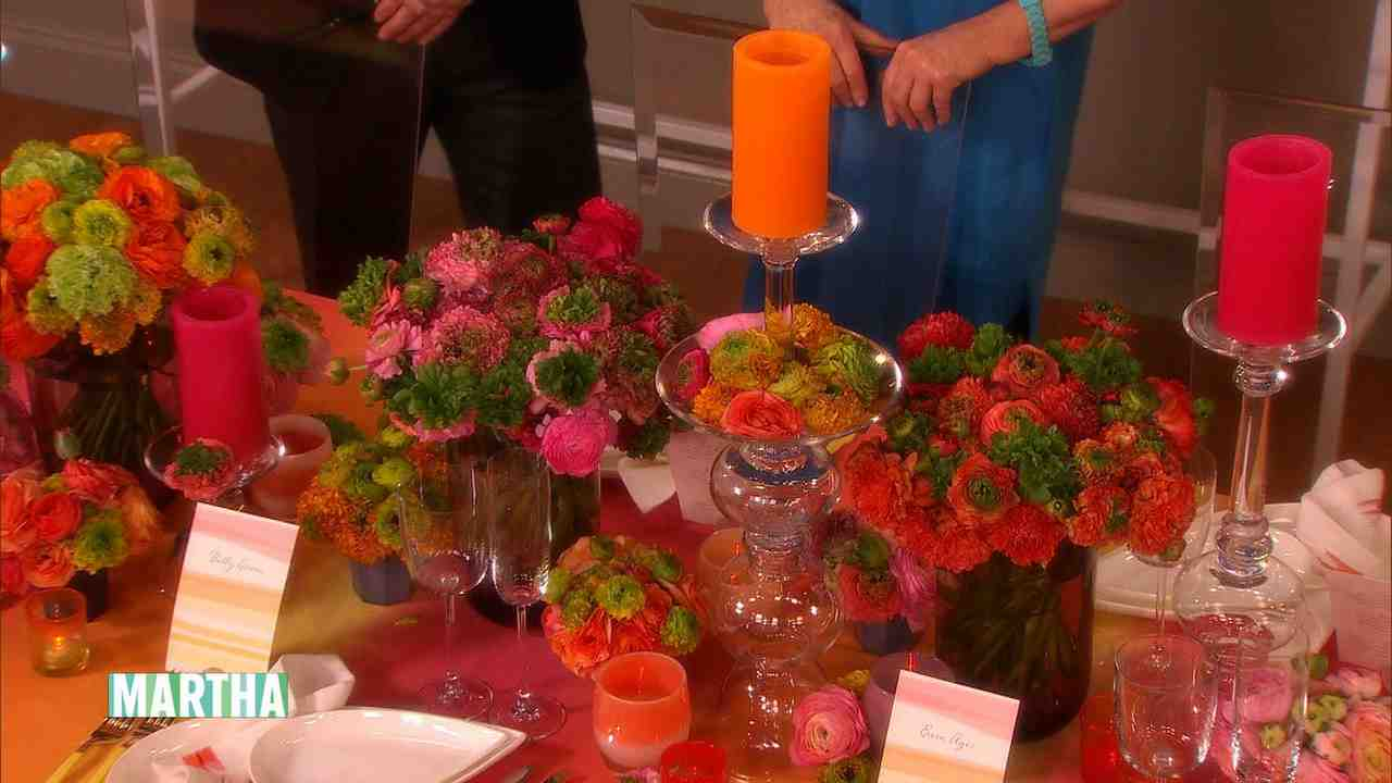 Video Colorful Wedding Reception Decorating Ideas Martha Stewart